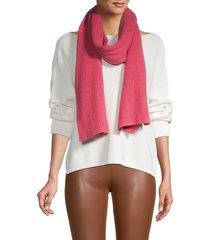 portolano women's ribbed scarf - flamingo