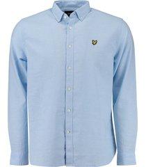 overhemd linnen lichtblauw