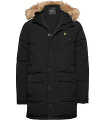 heavyweight longline puffer jacket gevoerd jack zwart lyle & scott