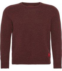 sweater bordo calvin klein shetland wool monogram sweater