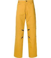 mackintosh 0004 mustard 0004 technical trousers - yellow