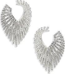 adriana orsini women's phoenix crystal hoop earrings