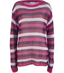 pullover a righe traforate (fucsia) - john baner jeanswear