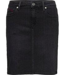 classic denim skirt brbk kort kjol svart tommy jeans