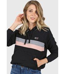 buzo negro reef opus hoodie