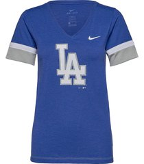 la dodgers nike mesh logo fashion vneck t-shirt t-shirts & tops short-sleeved blå nike fan gear