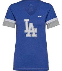 la dodgers nike mesh logo fashion vneck t-shirt t-shirts & tops short-sleeved blå nike fan gear