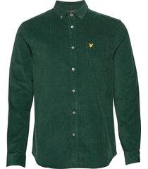 needle cord shirt overhemd casual groen lyle & scott