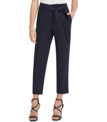 dkny high-rise tie-front pants