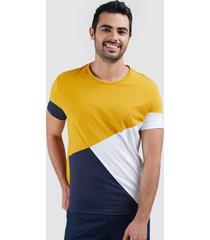 camiseta para hombre con cortes camiseta hombre con cortes color dorado, talla l