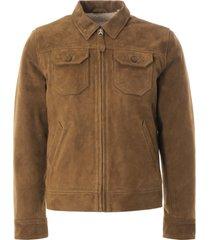 schott suede western jacket | rust | lcstn-rst