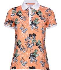 element poloshirt t-shirts & tops polos orange röhnisch