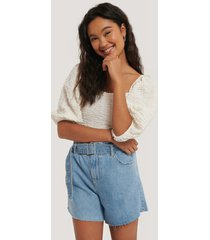 mango shorts - blue
