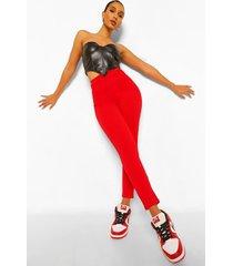 getailleerde strakke broek met taille inkeping, dark red