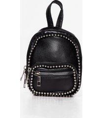 womens want too stud for 'em mini backpack - black