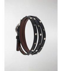 alexander mcqueen skull stud-embellished bracelet