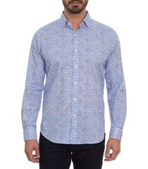 men's robert graham lifeson classic fit button-up shirt, size xx-large - blue