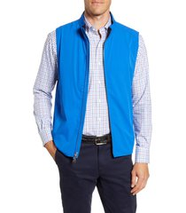 men's peter millar crown crafted stealth performance vest, size small - blue