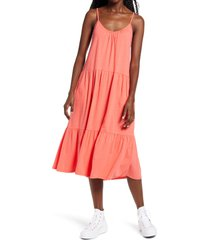women's all in favor tiered jersey dress