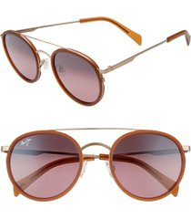 maui jim even keel 51mm polarizedplus2(r) sunglasses in brown/maui rose at nordstrom