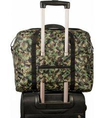maleta equipaje de mano plegable estampado camuflado citybags multicolor