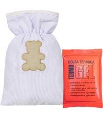 bolsa térmica padroeira baby urso encantado bege