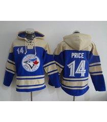 toronto blue jays 14 david price baseball pullover hoodie jersey