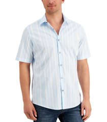 alfani men's vertical striped shirt, created for macy's