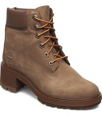 kinsley 6in wp bt dk be shoes boots ankle boots ankle boot - heel brun timberland