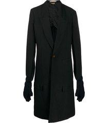 comme des garçons homme plus casaco longo com botão único - preto