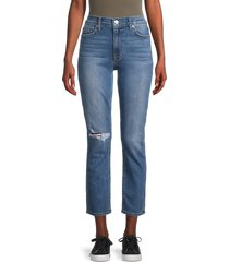 hudson women's blair straight jeans - blue - size 31 (10)
