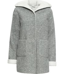 cappotto corto con fodera in peluche (grigio) - rainbow