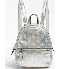 mały lakierowany plecak z logo model peony shine
