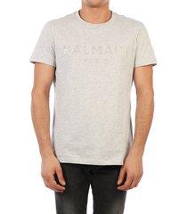 balmain t-shirt logo gray