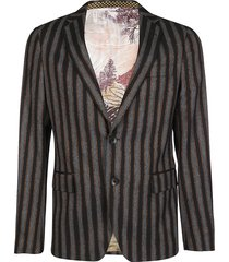 etro multicolor viscose blend blazer
