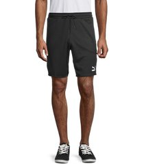 puma men's logo regular fit shorts - black - size m