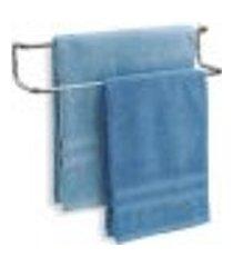 toalheiro porta toalhas de banho parede duplo 50cm luxo aço
