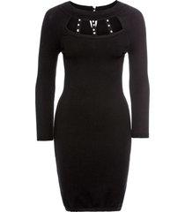 abito in maglia con perle (nero) - bodyflirt boutique