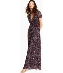 bar iii floral-print puff-sleeve maxi dress, created for macy's