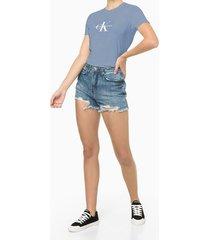blusa feminina estampa ck lilás calvin klein jeans - pp