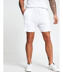 river island mens ecru knitted textured shorts