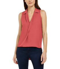 inc high-low surplice top, created for macy's
