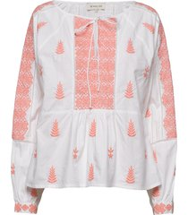 rose blouse blouse lange mouwen oranje by malina