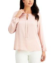 kasper tie-neck blouse