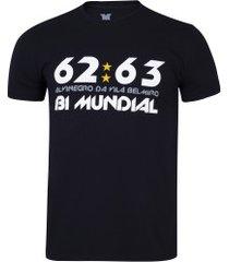 camiseta do santos bi mundial manto fc - masculina - preto