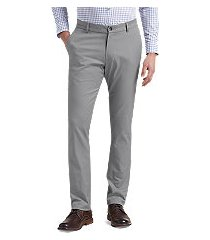 travel tech slim fit flat front pants by jos. a. bank