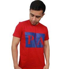camiseta hombre summer rojo estampado azul