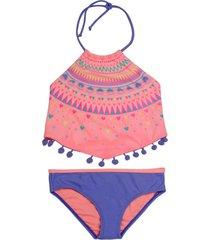 bikini sublimado uv30 naranja h2o wear