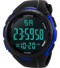 reloj digital hombres led militar deportivo 248 negro azul