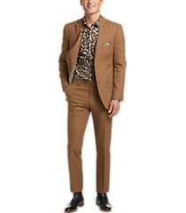 paisley & gray slim fit suit separates coat rust
